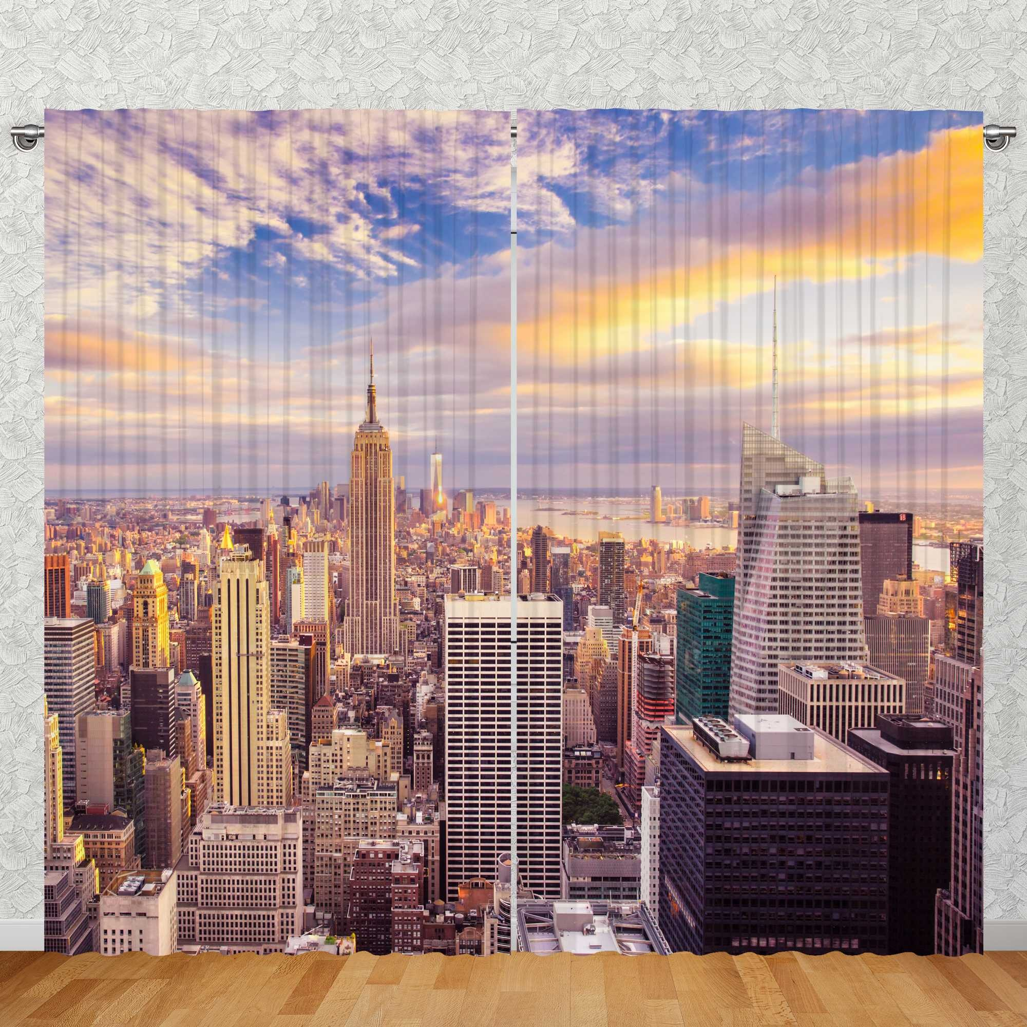 270cm Foto Vorhang New York Skyline
